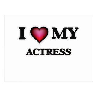 I love my Actress Postcard