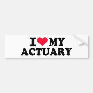 I love my Actuary Bumper Sticker