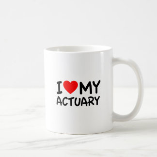 I Love My Actuary Coffee Mug