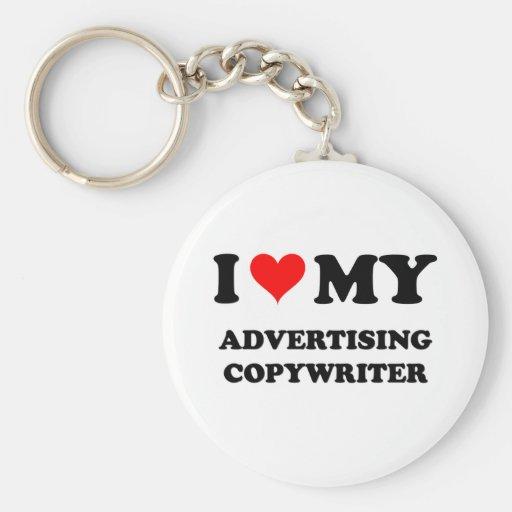 I Love My Advertising Copywriter Keychain