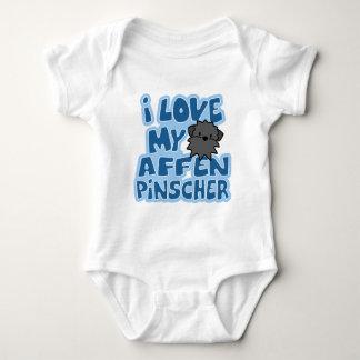 I Love My Affenpinscher Baby Creeper