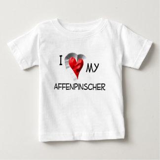 I Love My Affenpinscher Baby T-Shirt