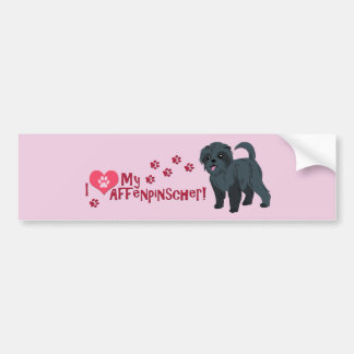 I Love My Affenpinscher! Bumper Sticker