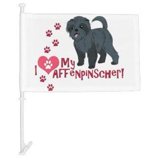 I Love My Affenpinscher! Car Flag