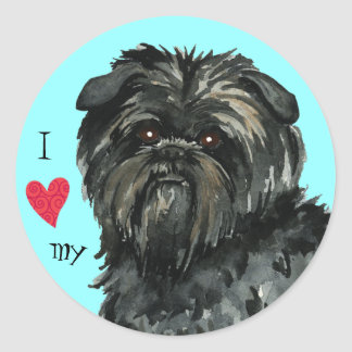 I Love my Affenpinscher Classic Round Sticker