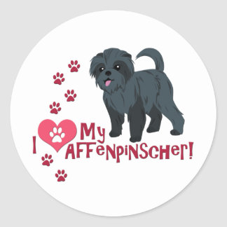 I Love My Affenpinscher! Classic Round Sticker