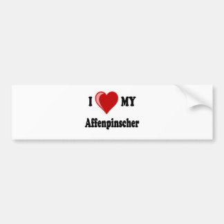 I Love My Affenpinscher Dog Bumper Sticker