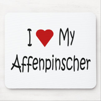 I Love My Affenpinscher Dog Gifts and Apparel Mouse Pad