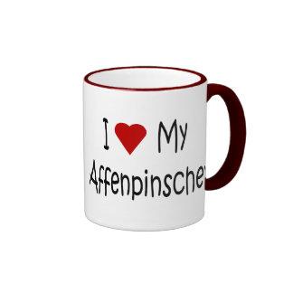I Love My Affenpinscher Dog Gifts and Apparel Ringer Coffee Mug