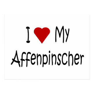 I Love My Affenpinscher Dog Gifts and Apparel Postcard