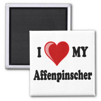 I Love My Affenpinscher Dog Magnet