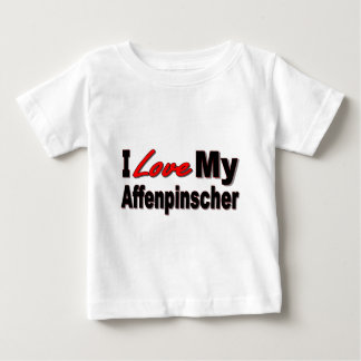 I Love My Affenpinscher Dog Merchandise Baby T-Shirt