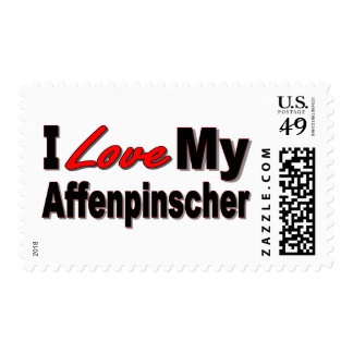 I Love My Affenpinscher Dog Merchandise Postage