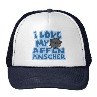 I Love My Affenpinscher Hat