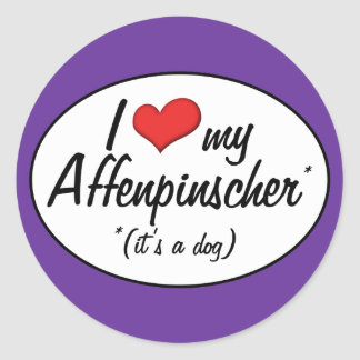 I Love My Affenpinscher (It's a Dog) Classic Round Sticker