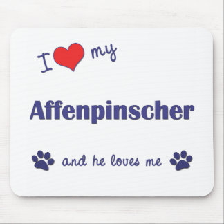 I Love My Affenpinscher (Male Dog) Mouse Pad