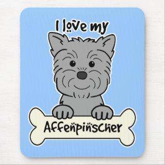 I Love My Affenpinscher Mouse Pad