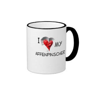 I Love My Affenpinscher Ringer Coffee Mug