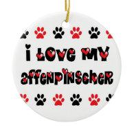 I Love My Affenpinscher Ornament