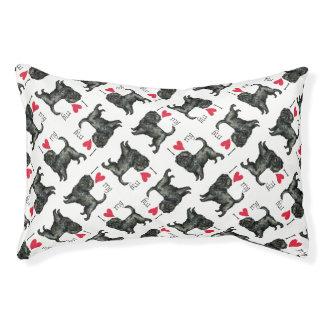 I Love my Affenpinscher Pet Bed