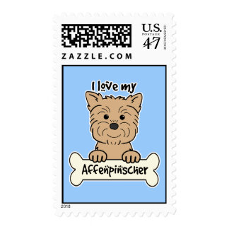 I Love My Affenpinscher Postage
