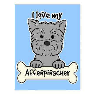 I Love My Affenpinscher Postcard