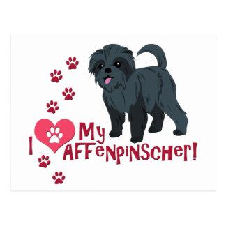 I Love My Affenpinscher! Postcard