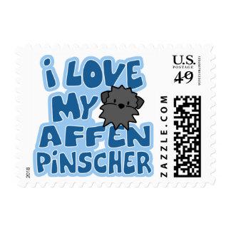 I Love My Affenpinscher Stamps