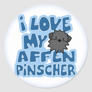 I Love My Affenpinscher Stickers