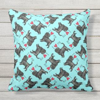 I Love my Affenpinscher Throw Pillow