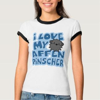 I Love My Affenpinscher Women's Ringer T-Shirt