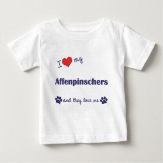 I Love My Affenpinschers (Multiple Dogs) Baby T-Shirt