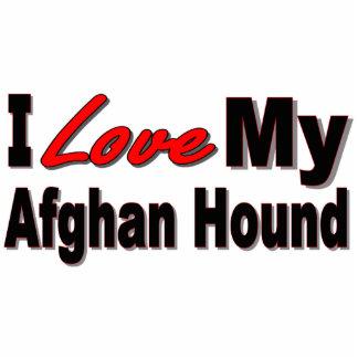I Love My Afghan Dog Breed Merchandise Photo Sculpture Keychain