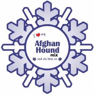 I Love My Afghan Hound Mix (Female Dog) Photo Sculptures