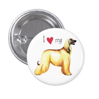 I Love my Afghan Hound Pinback Button