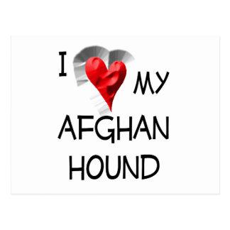 I Love My Afghan Hound Postcard