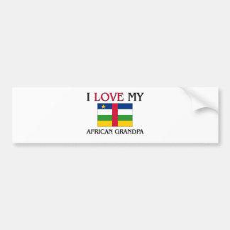 I Love My African Grandpa Bumper Stickers