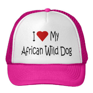 I Love My African Wild Dog Gifts and Apparel Trucker Hat