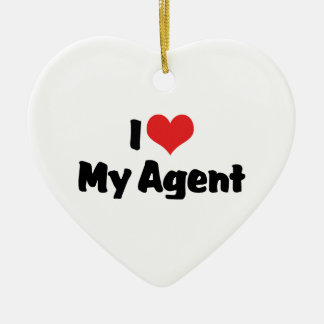 I Love My Agent Ornament