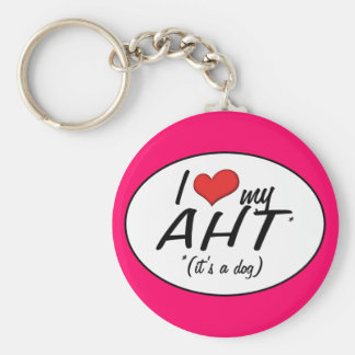 I Love My AHT (It's a Dog) Key Chain