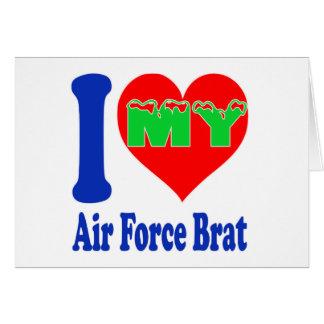 I love my Air Force Brat Greeting Card
