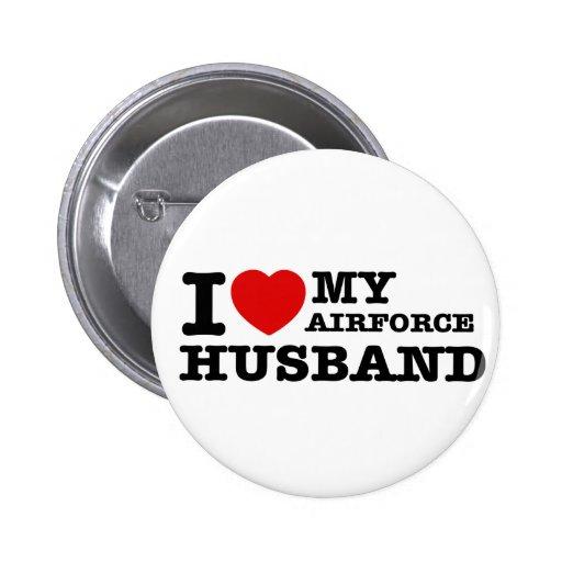 I love my air force husband pin
