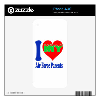 I love my Air Force Parent. Skin For The iPhone 4
