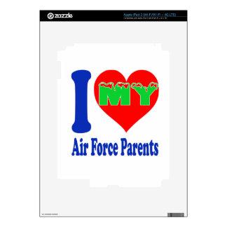 I love my Air Force Parent. iPad 3 Decals