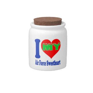 I love my Air Force Sweetheart. Candy Jar