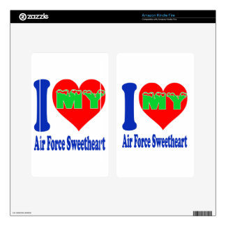 I love my Air Force Sweetheart. Skin For Kindle Fire