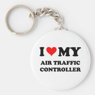 I Love My Air Traffic Controller Keychain