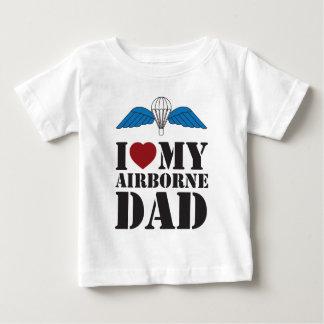 I LOVE MY AIRBORNE DAD T-SHIRT