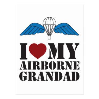 I LOVE MY AIRBORNE GRANDAD POSTCARD