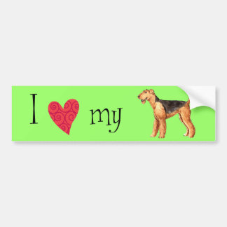 I Love my Airedale Bumper Stickers